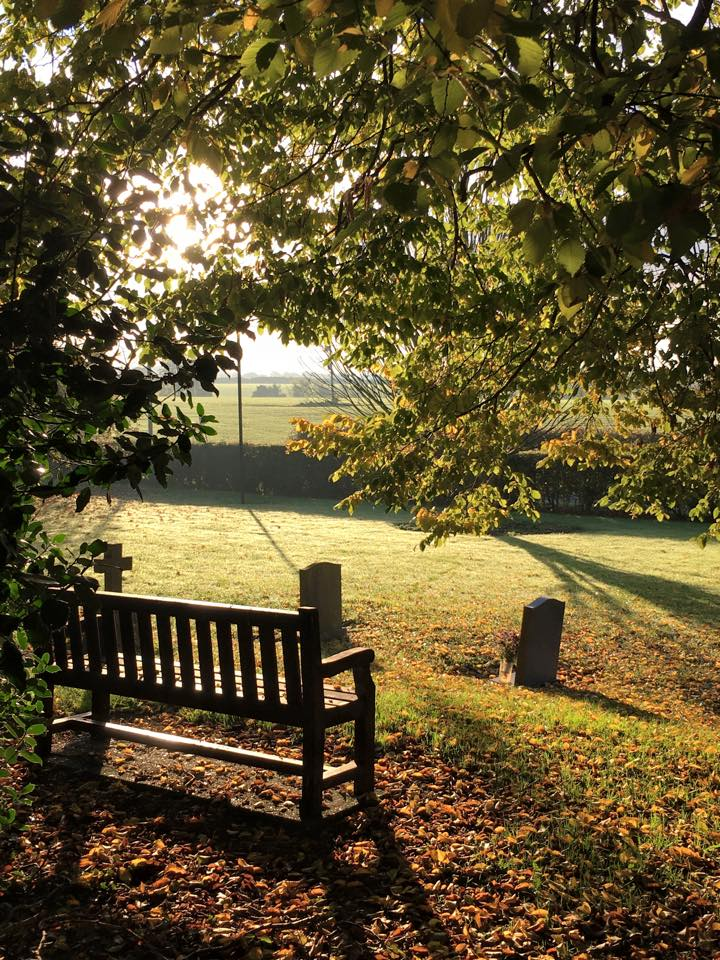 Churchyard in autumn