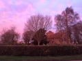 Sunset over the churchyard